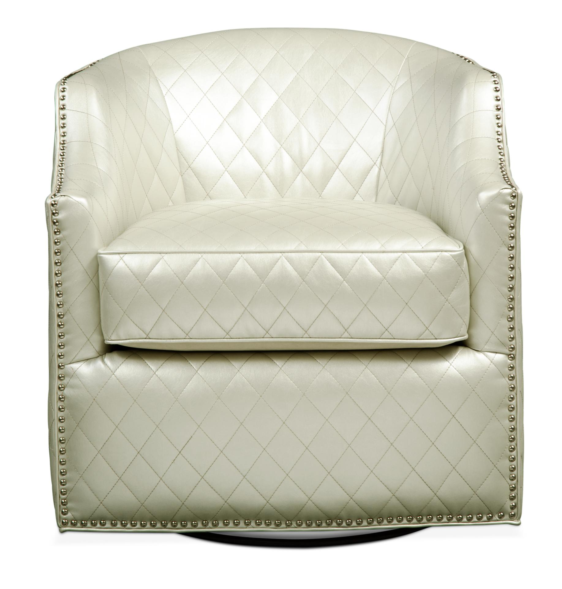Roxie Swivel Chair   Pearl