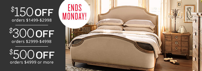 ends monday! up to $500 off!