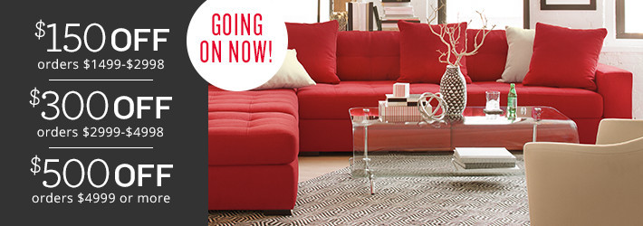 going on now! up to $500 off!
