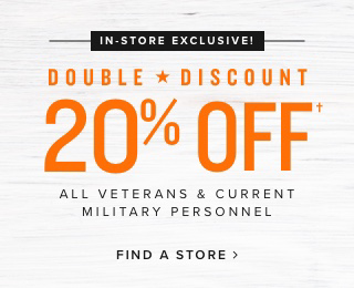 20% off all Veterans!