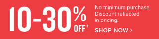 4th of July Furniture Sale 10-30% OFF YOUR ORDER - NO MINIMUM PURCHASE!