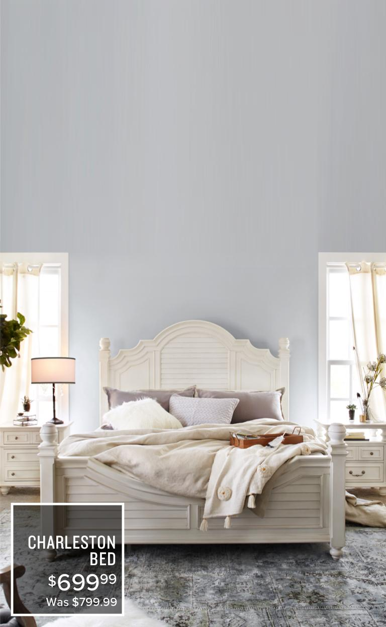 Charleston Bed | $639.99 | Was $799.99