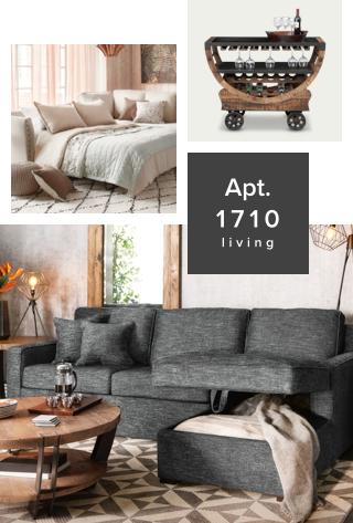 Apartment 1710 living