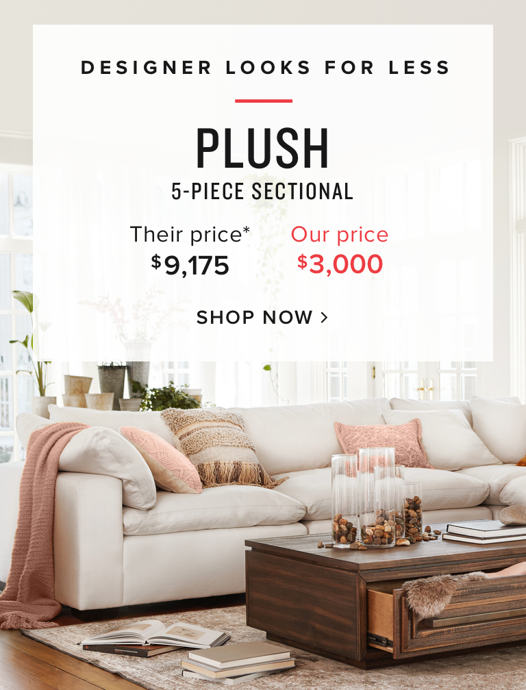 shop Plush 5-piece sectional