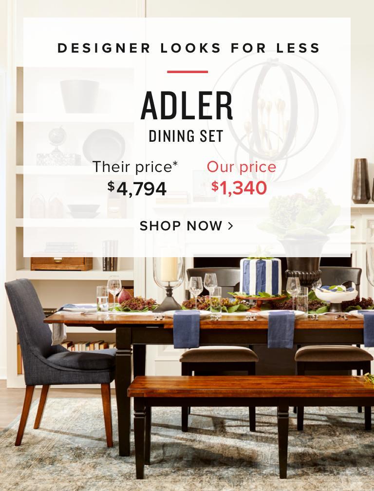Shop Adler Dining Sets. Shop Angelina Furniture