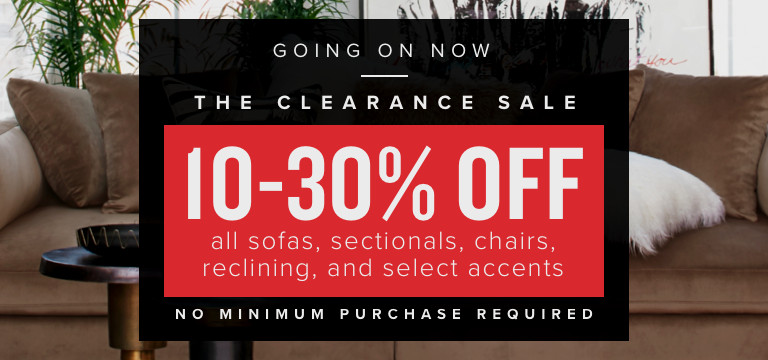 10-30% Off all living room furniture