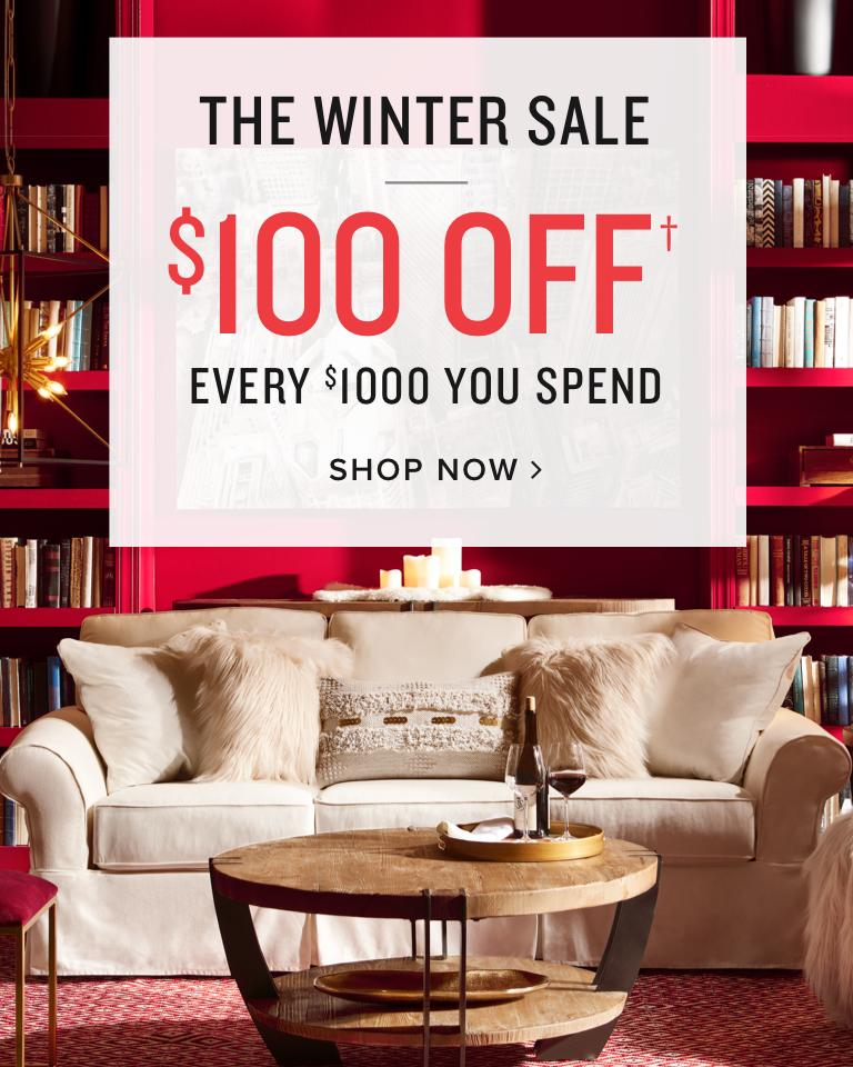 $100 off every $1000 you spend