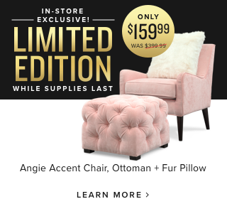 LImited Edition Angie chair. only 159 dollars and 99 cents