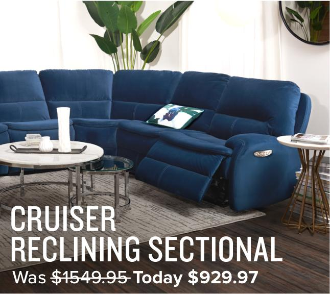 40% off Cruiser reclining sectional