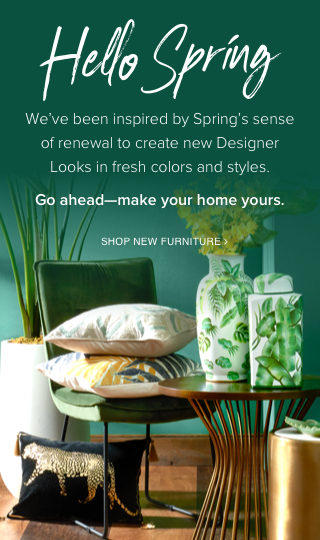 Hello Spring we've been inspired by Spring's sense of renewal to create new Designer Looks in fresh colors and styles.