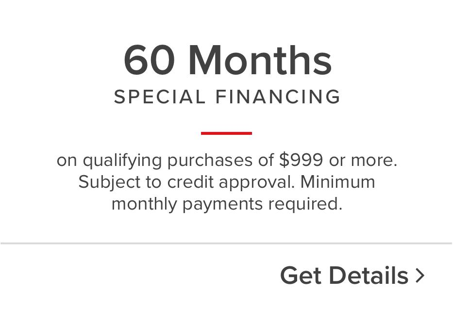 60 month special Financing