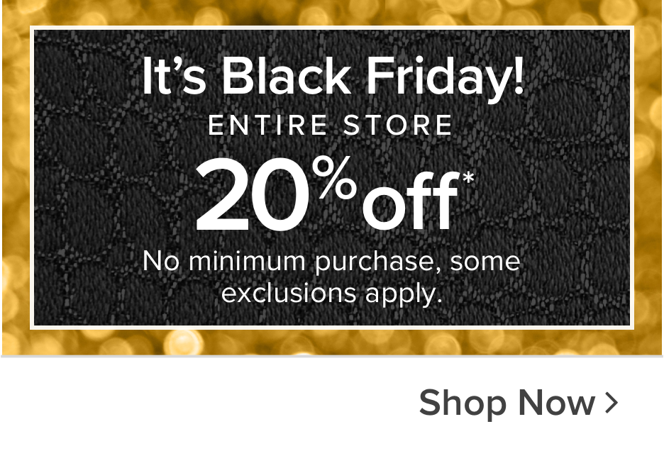 Black Friday Sale 20% OFF the Entire Store - Shop now