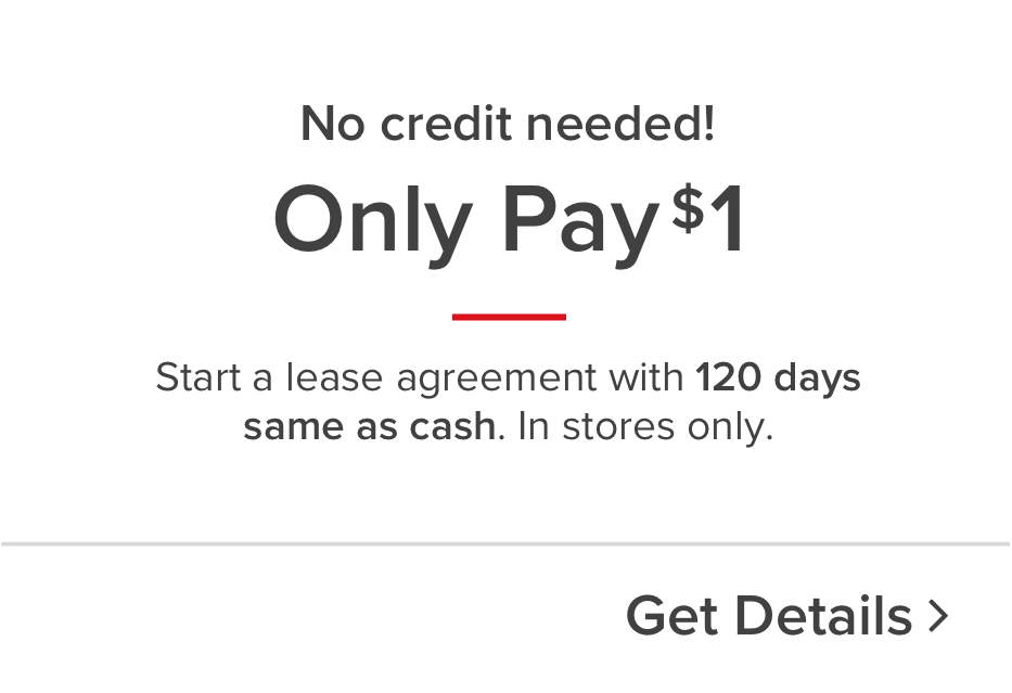 Only $1 downn same as cash payment option
