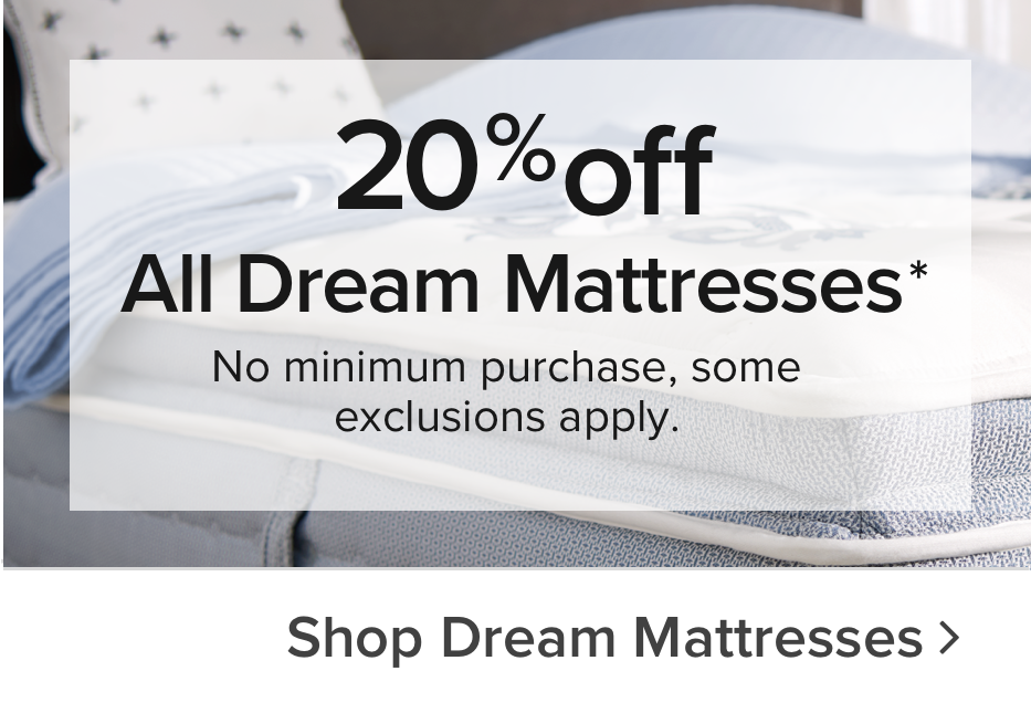 Black Friday 20% off Dream & Select Beautyrest Mattresses