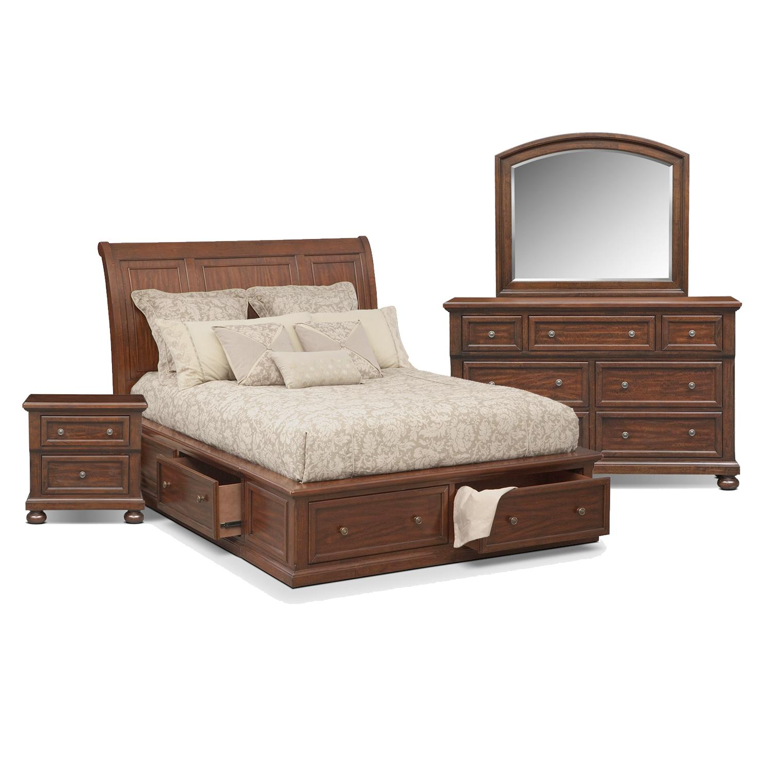 Bedroom furniture value city furniture for Bedroom furniture with mattress
