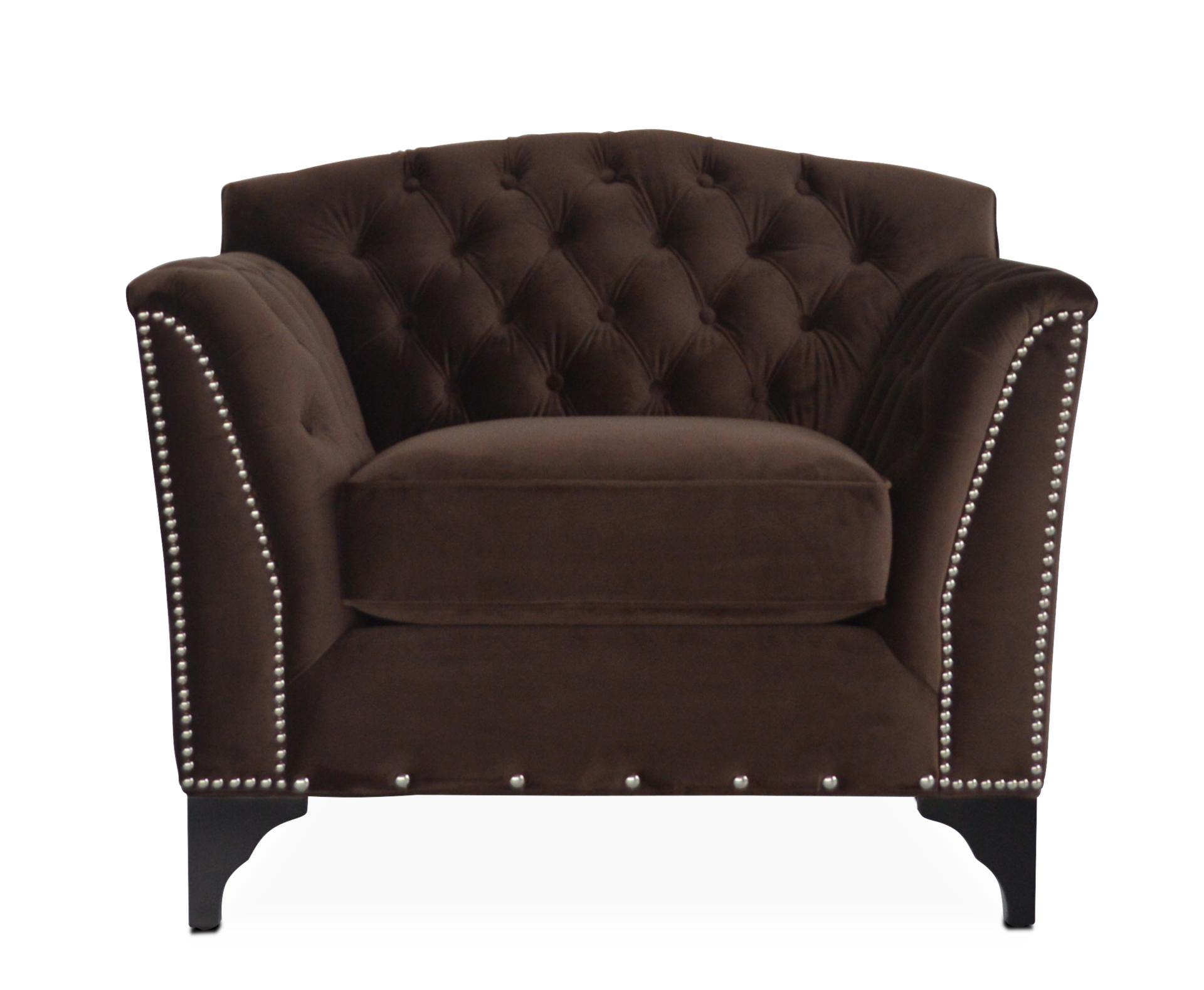 Priscilla Accent Chair   Brown