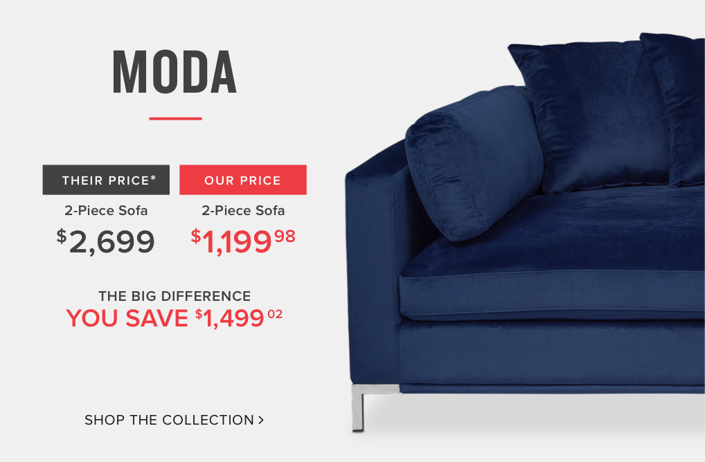 moda sectional. American Signature Furniture   Designer Looks for Less   American