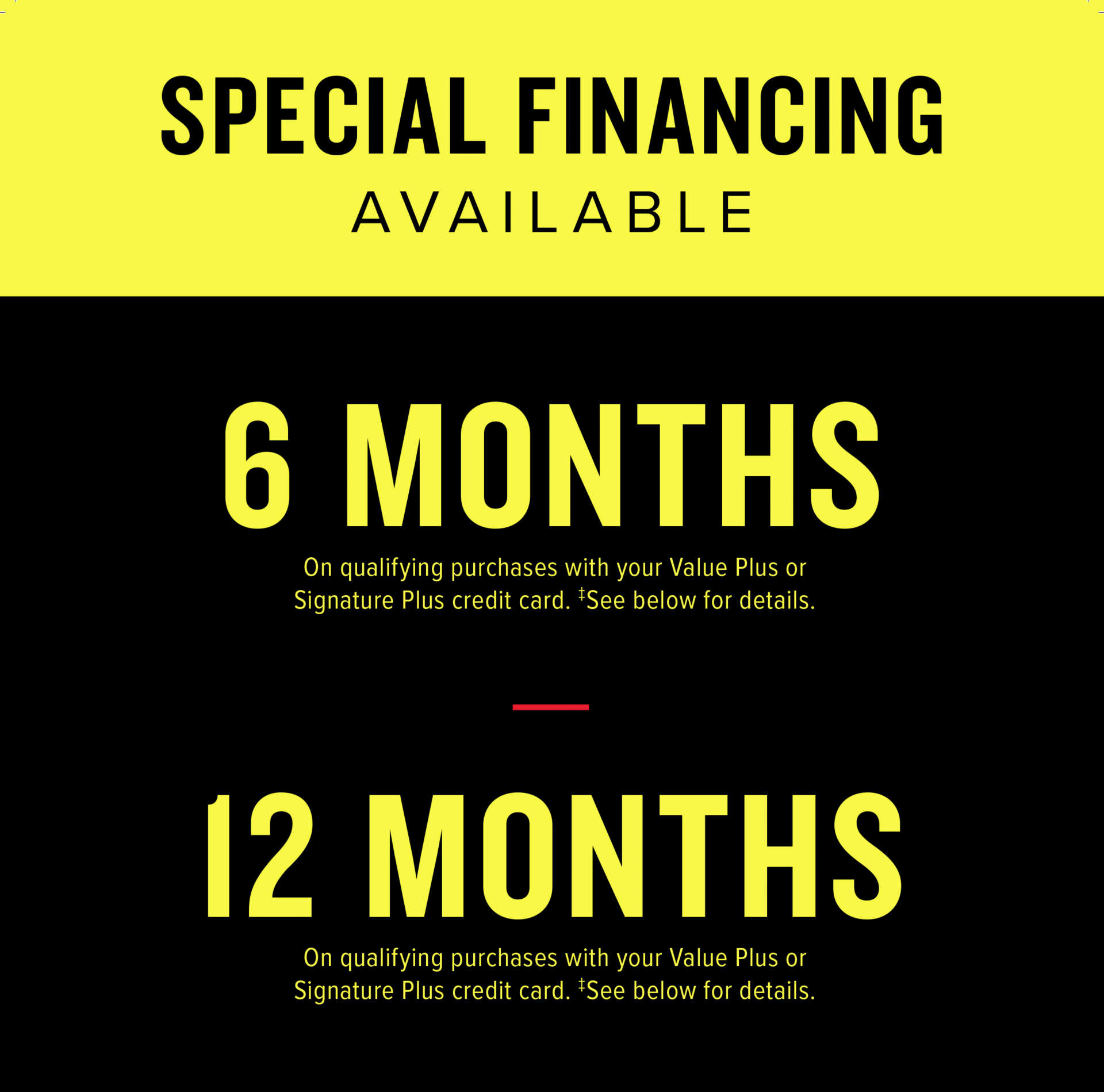 special financing