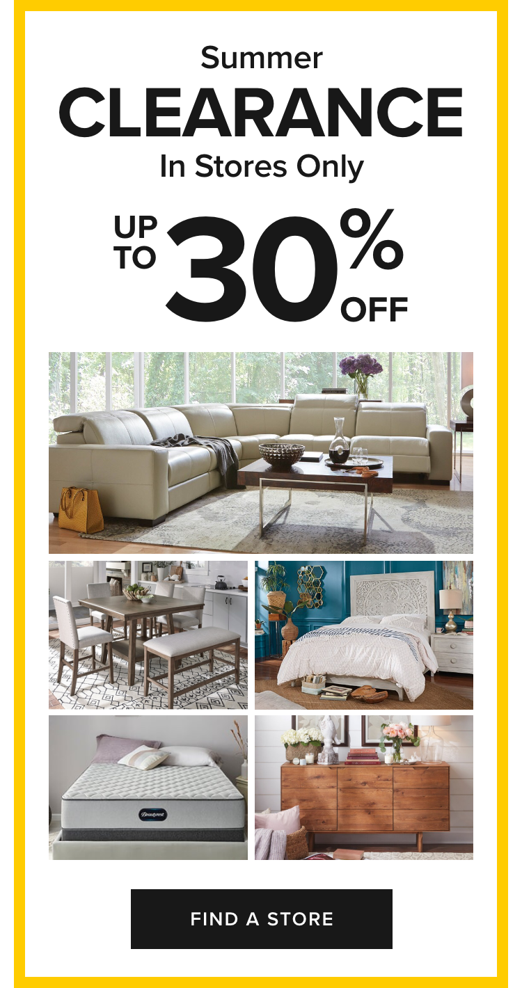 Summer Clearance Up To 30% Off Furniture