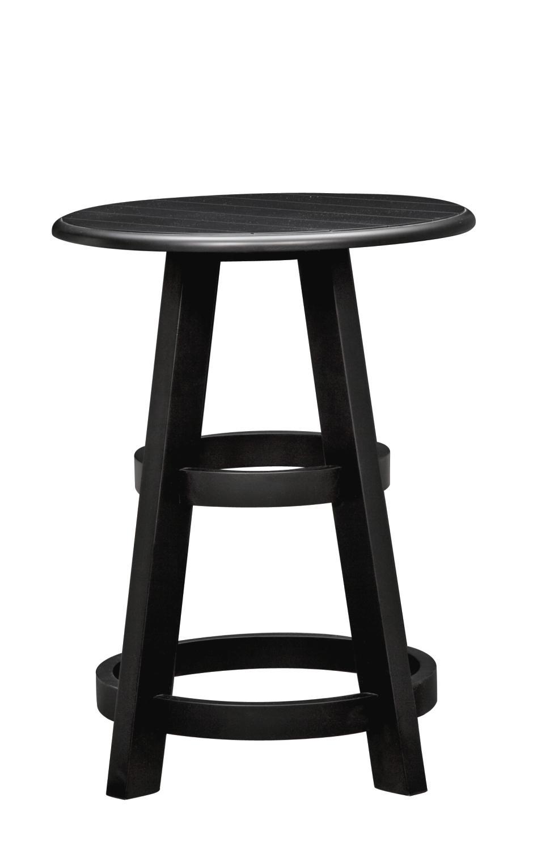 Plantation Cove Coastal Chairside Table   Black