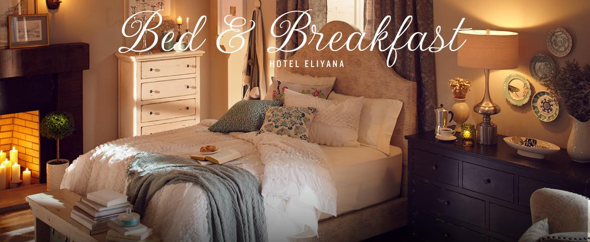explore the relaxing and cozy bed and breakfast style
