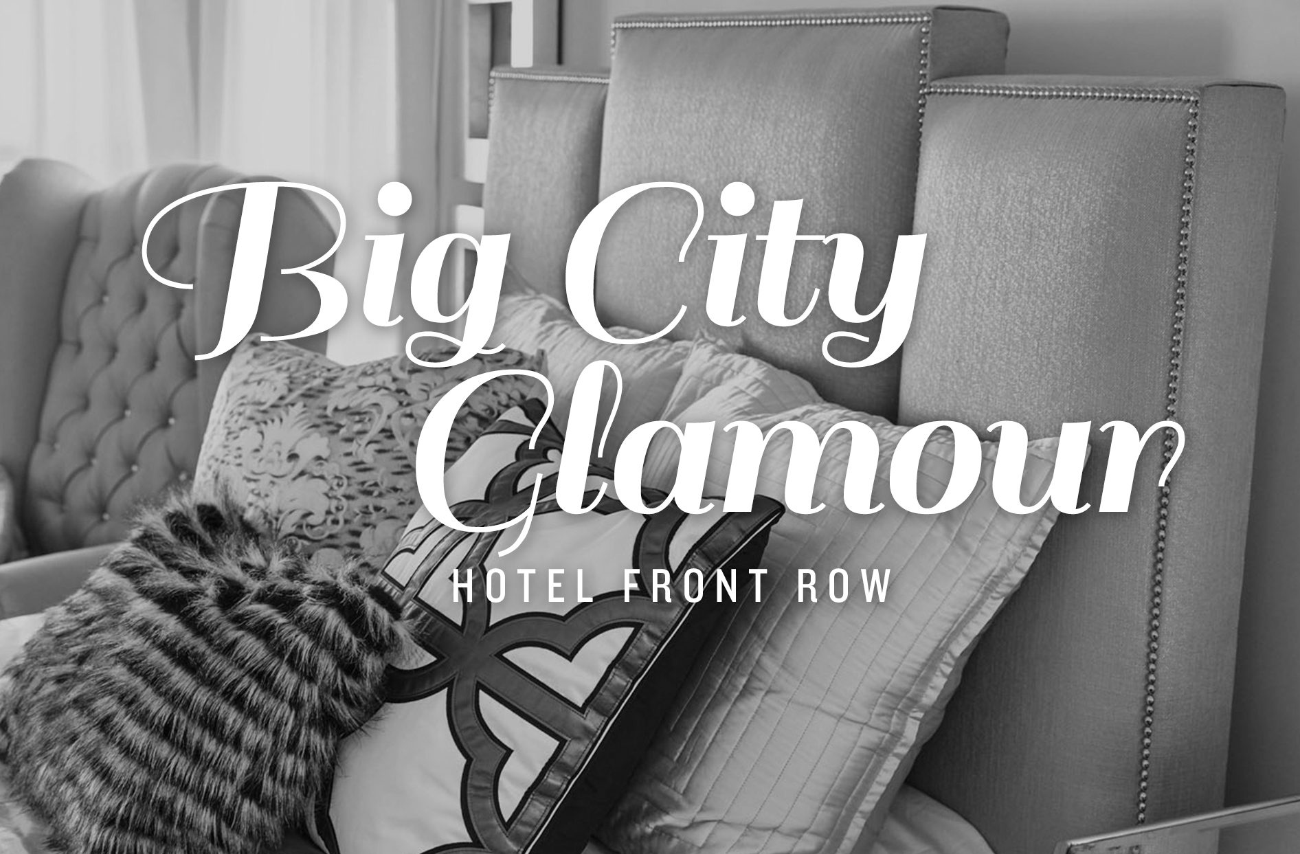 have a night out on the town with big city glamour style inside the hotel front row collection