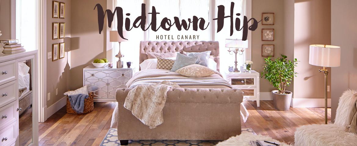 eclectic, bohemian, and trendy describes the mid-town hip style