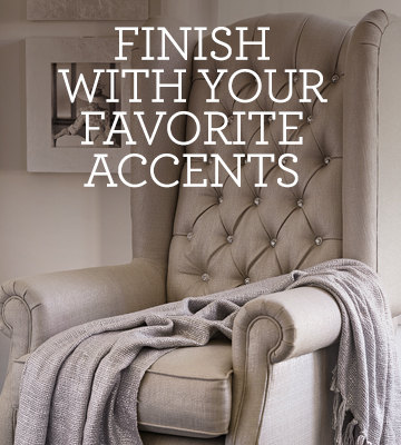 finish it off with your favorite accents