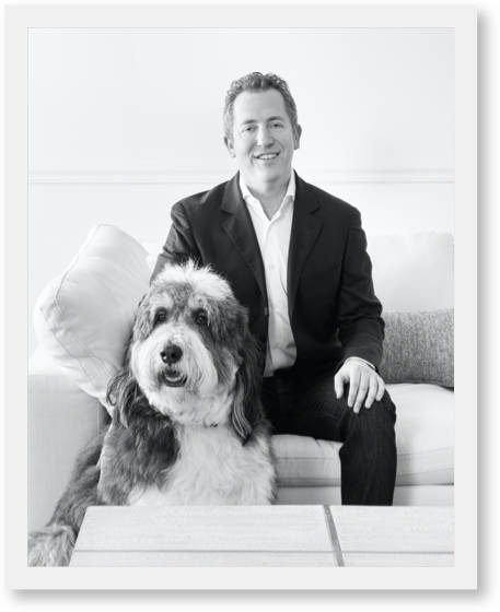 photo of Jonathan our President and 4th generation owner along with his dog Ernie.