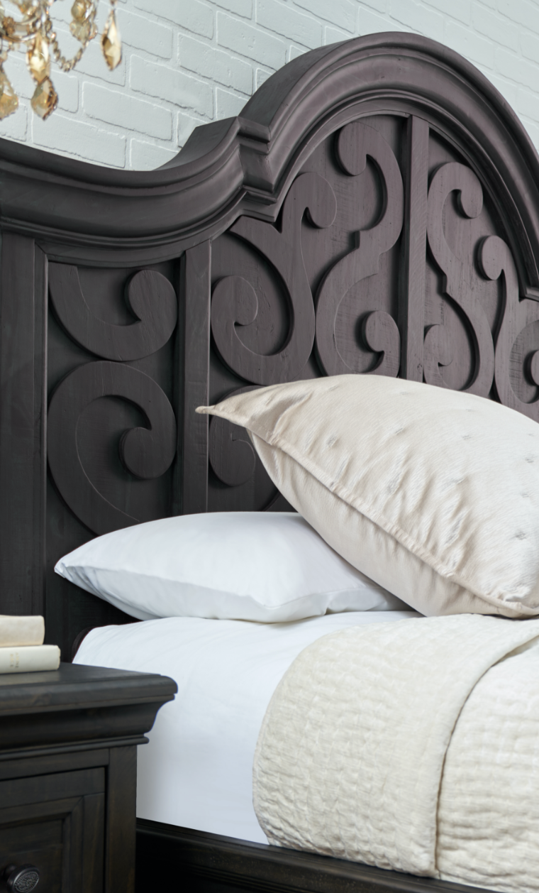 Bedroom headboard details