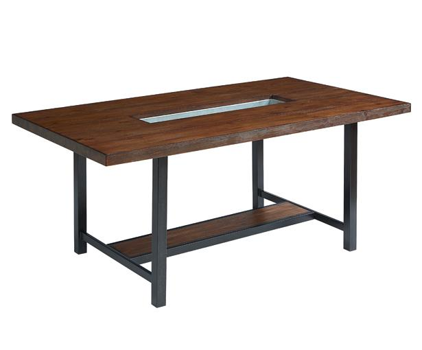 Framework Dining Table With Planter