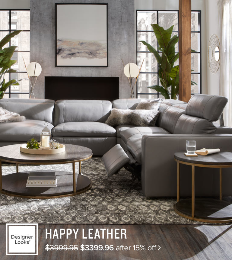 photo of a happy reclining collection in a living room
