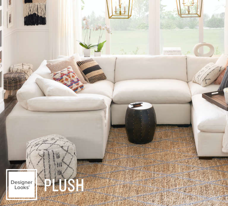 plush sectional from $699