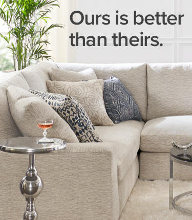 Living Room Hero Image - Ours is better than theirs.