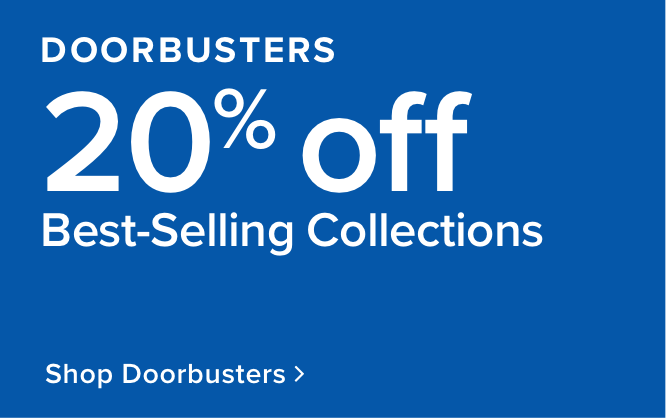 limited time doorbusters 20% off