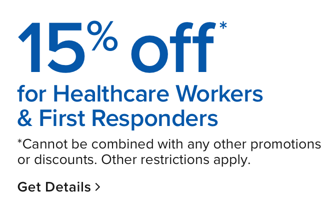 15% off no minimum promotion for first responders
