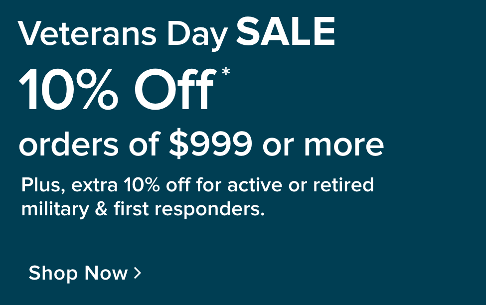Veteran's Day Sale - shop now
