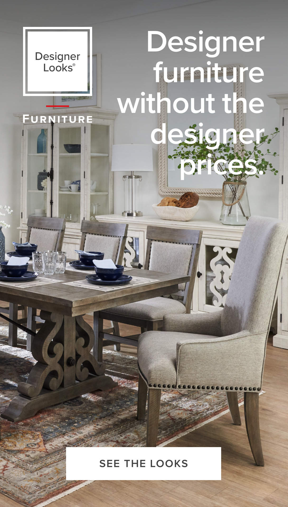 Designer dining room furniture without the designer prices.