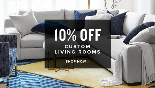10% off mix custom living rooms