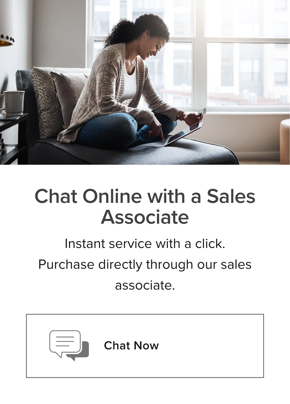 online chat shopping card
