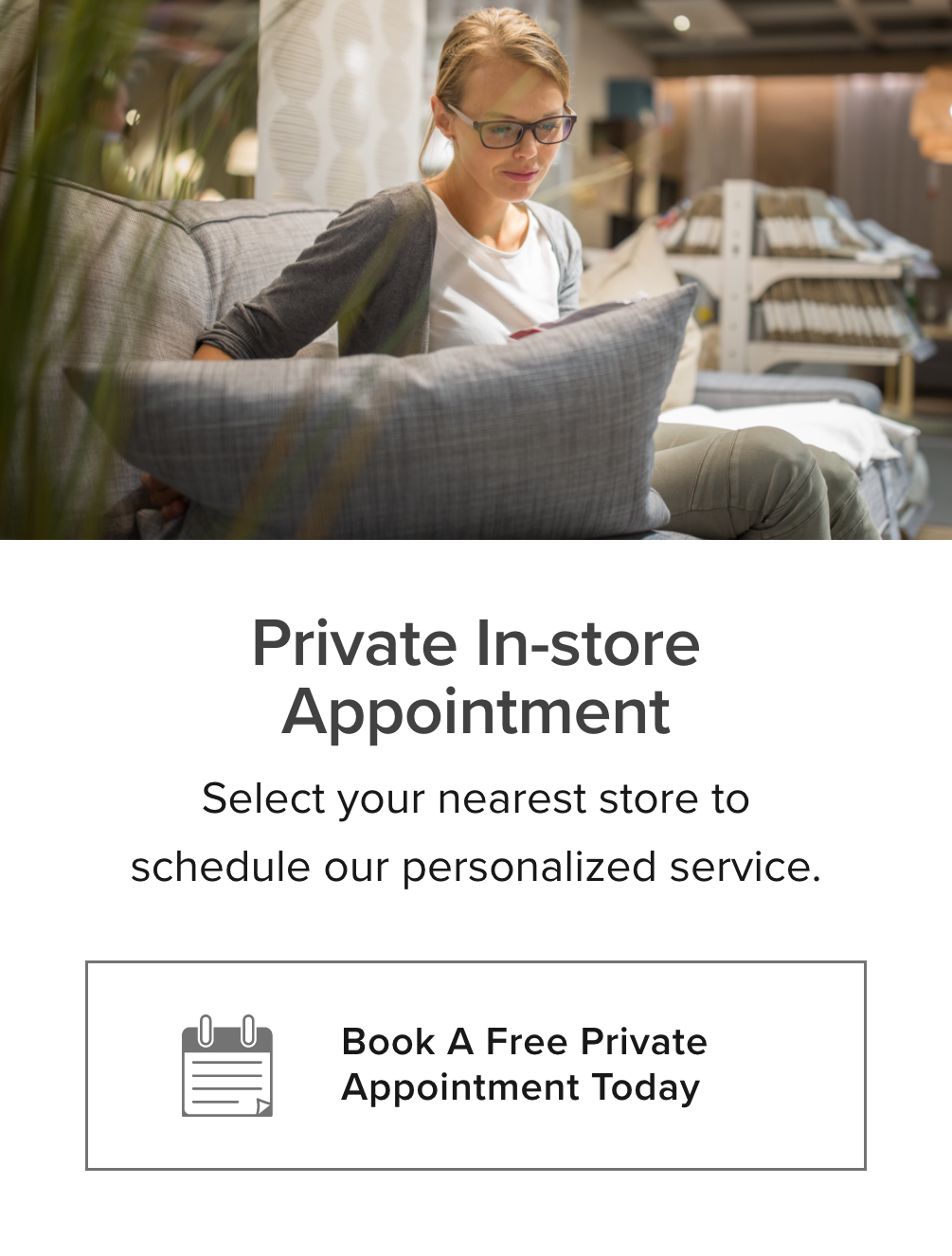 private in store shopping card