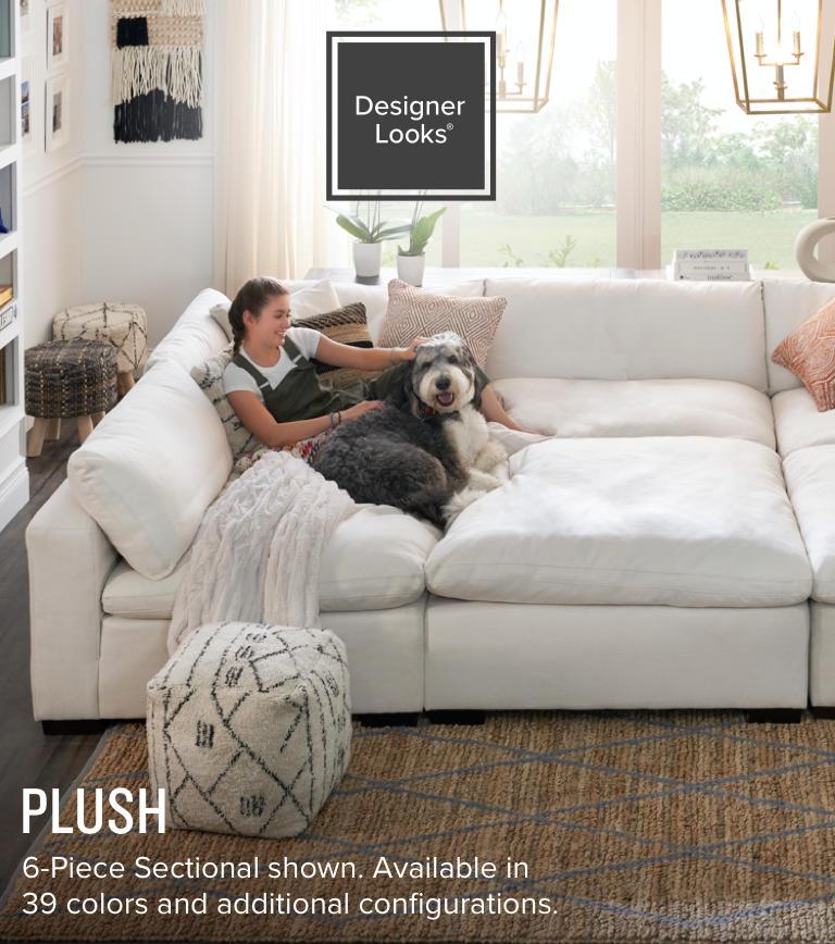 Shop the Look Plush Living Room Hero Image