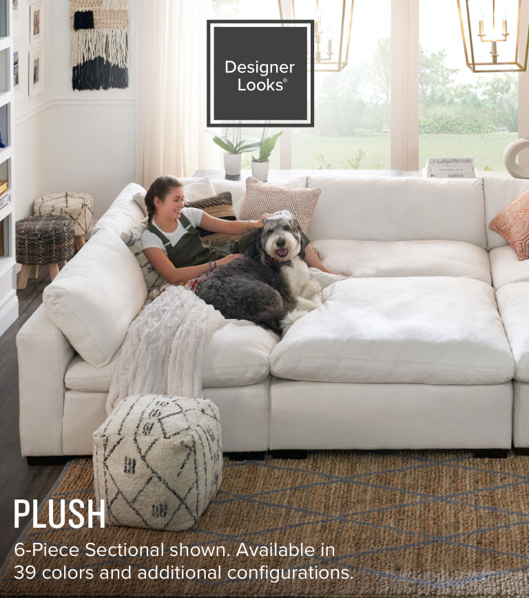 Shop the Look Plush Living Room Hero Image