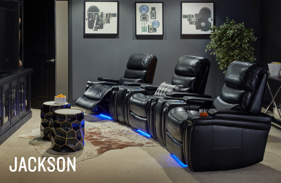 Shop the Jackson Black Reclining Collection